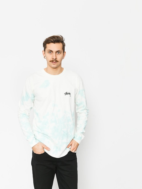 Longsleeve Stussy Small Stock Td (natural/blue)