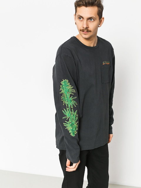 Bluza Stussy Leaves Ls (charcoal)