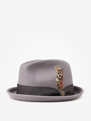 Kapelusz Brixton Gain Fedora (light grey/charcoal)