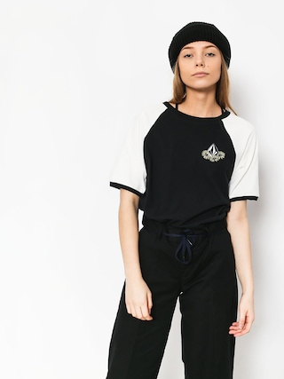 T-shirt Volcom Stage 4 Ringer Wmn (blk)