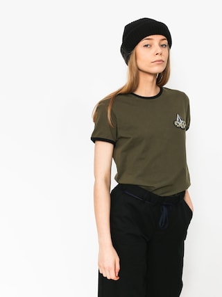 T-shirt Volcom Keep Goin Ringer Wmn (dca)
