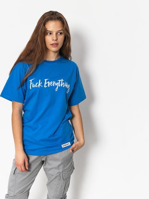 T-shirt Diamante Wear Fuck Everything Wmn (blue)