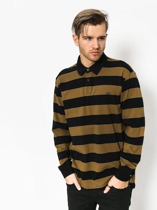Longsleeve Supra Fifty Stripe Polo (black/olv)