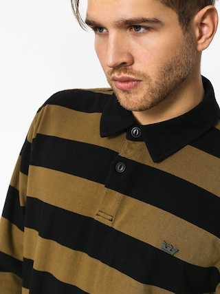 Longsleeve Supra Fifty Stripe Polo (black olv) 0b554602e8