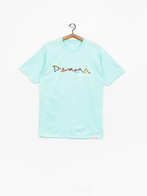 T-shirt Diamond Supply Co. Og Script Fasten (diamond blue)