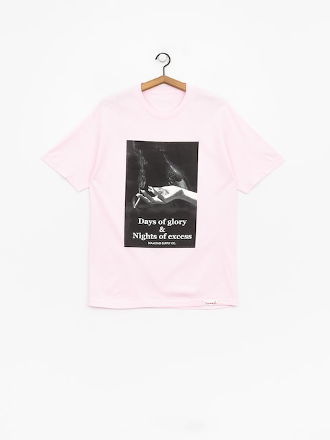 T-shirt Diamond Supply Co. Night Of Excess (pink)