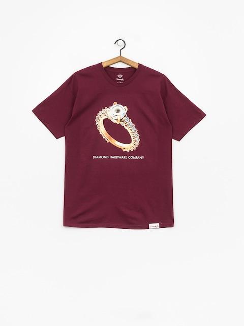 T-shirt Diamond Supply Co. Hardware Ring (burgundy)