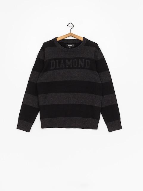 Sweter Diamond Supply Co. Striped Wool (black)