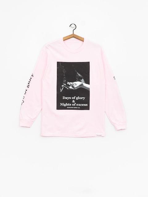 Longsleeve Diamond Supply Co. Night Of Excess (pink)