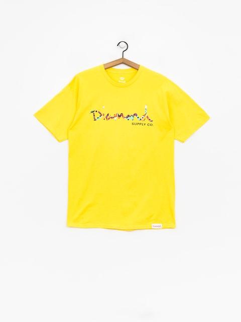T-shirt Diamond Supply Co. Og Script Fasten (yellow)