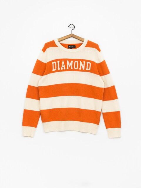 Sweter Diamond Supply Co. Striped Wool (orange)