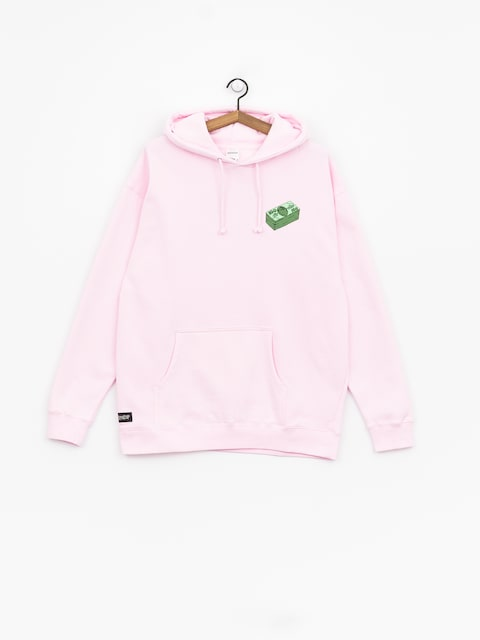 Bluza z kapturem RipNDip Money Talks HD (light pink)