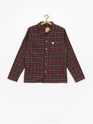 Koszula The Hive Flannel Overshirt (burgundy/green)