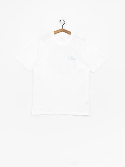 T-shirt Polar Skate Fill Logo (white/pool blue)