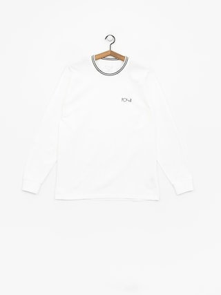 Longsleeve Polar Skate Striped Rib (white/black)