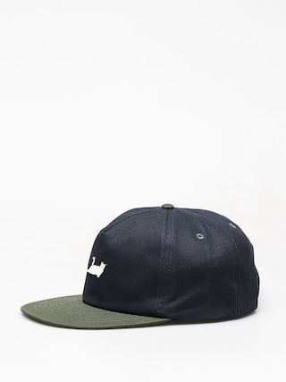 Czapka z daszkiem RipNDip Castanza 5 Panel (navy hunter green)