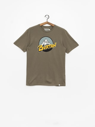 T-shirt Burton Retro Mtn (dusty olive)