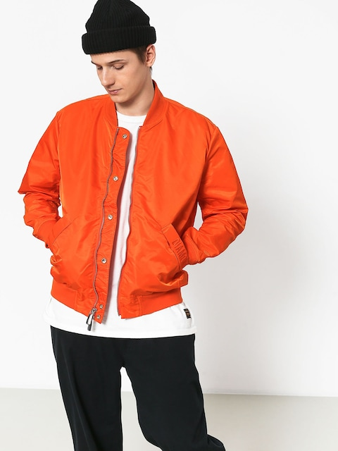 Kurtka Diamond Supply Co. Panelled Bomber (orange)