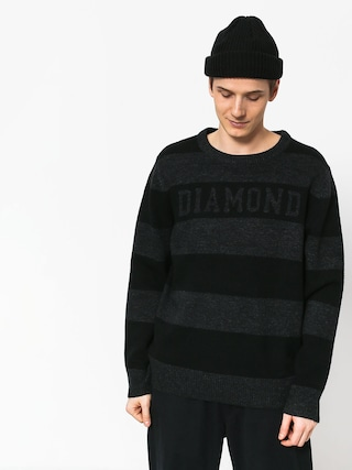 Sweter Diamond Supply Co. Striped Wool (black)