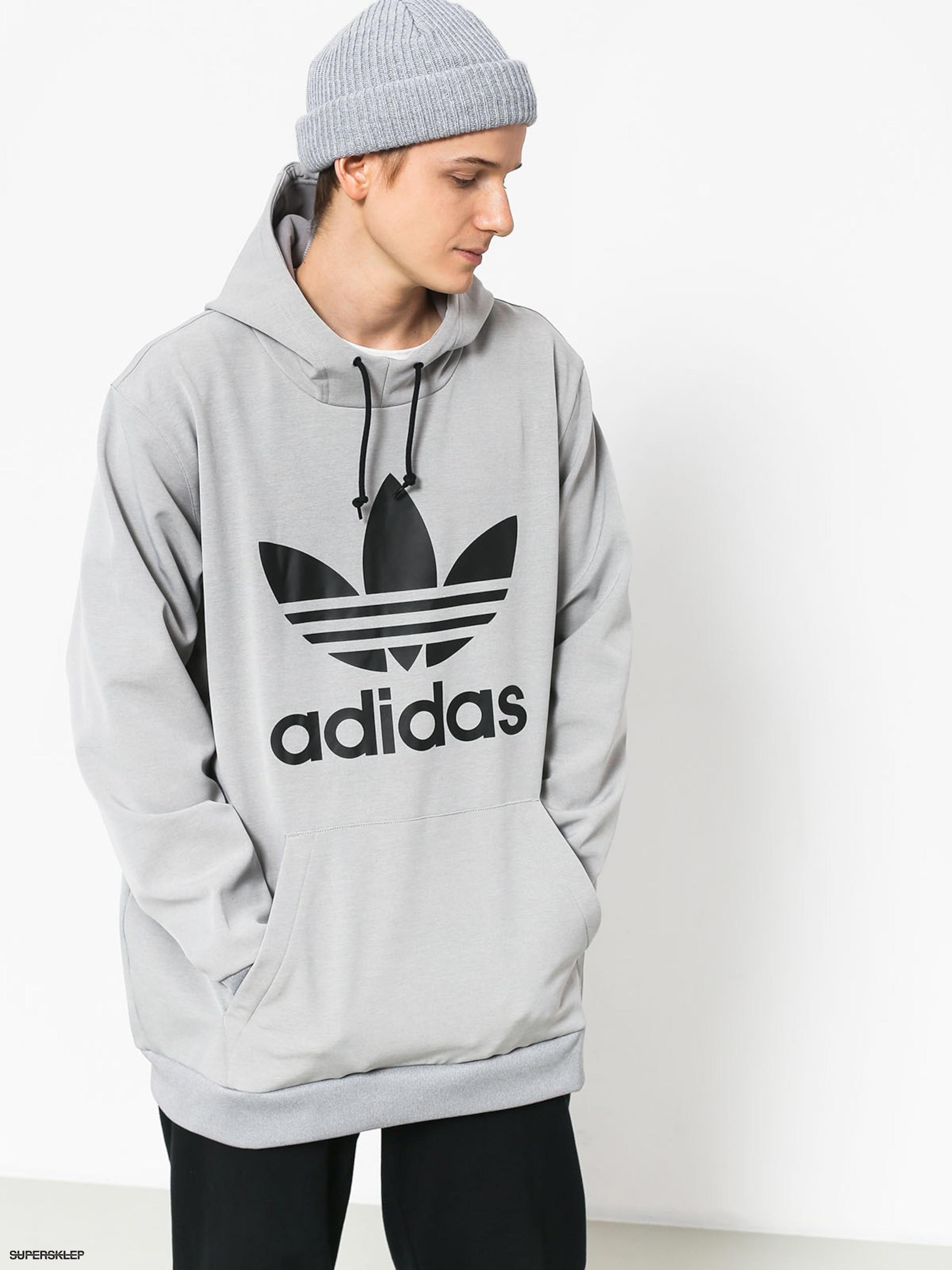 Bluza z kapturem adidas Team Tech HD (medium grey heatherblack)