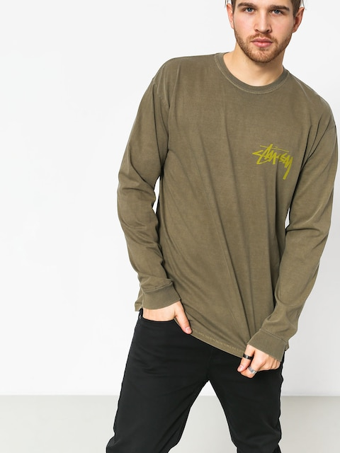 Longsleeve Stussy Stock Pig Dyed (army)