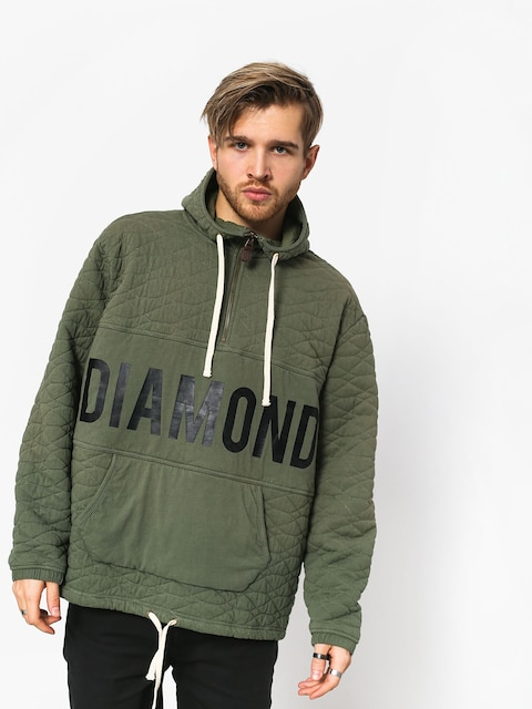 Bluza z kapturem Diamond Supply Co. Quilted HD (olive)