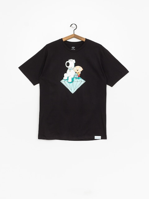 T-shirt Diamond Supply Co. Stewie And Brian Brilliant