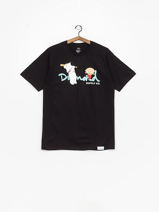 T-shirt Diamond Supply Co. Family Guy Og Script (black)