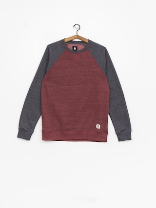 Bluza Element Meridian Block Crew (oxblood red)
