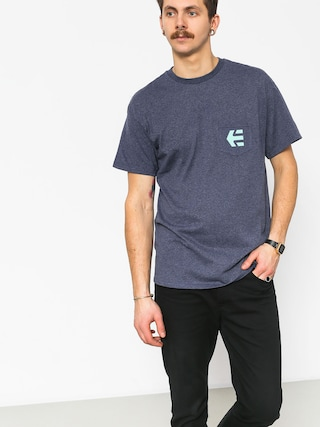 T-shirt Etnies Icon Pocket (navy/heather)