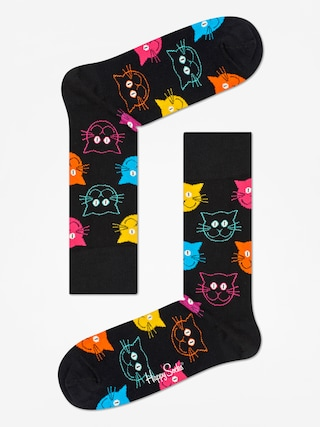 Skarpetki Happy Socks Animal Cat (black/pink)