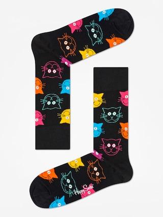 Skarpetki Happy Socks Animal Cat (black/pink)