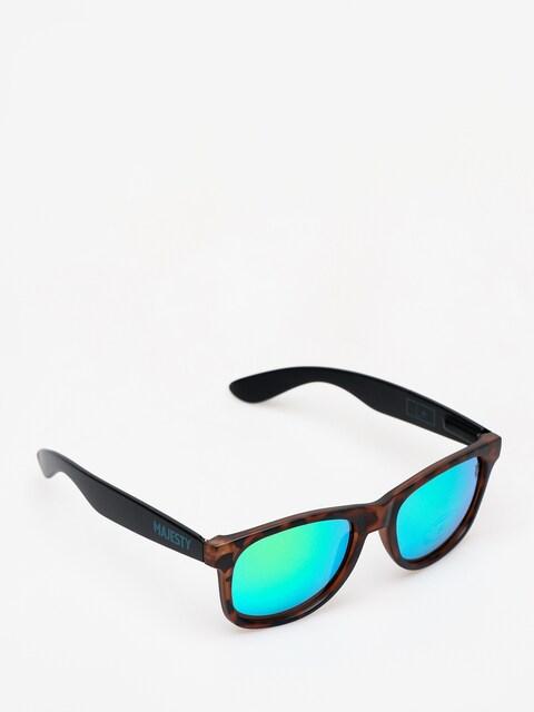 Okulary przeciwsłoneczne Majesty L (black/tortoise with green emerald lens)