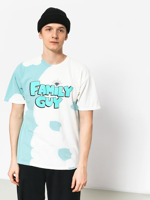 T-shirt Diamond Supply Co. Family Guy Crystal Wash (diamond blue)