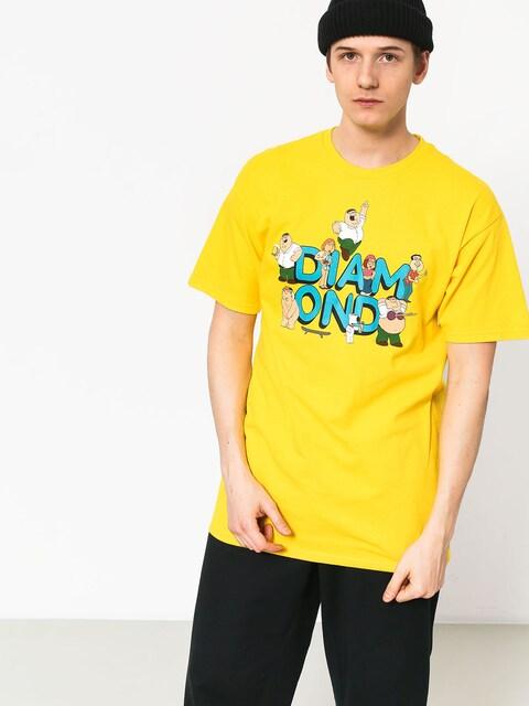 T-shirt Diamond Supply Co. Diamond X Family Guy (yellow)