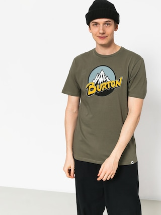 T-shirt Burton Retro Mtn (dusty olive)