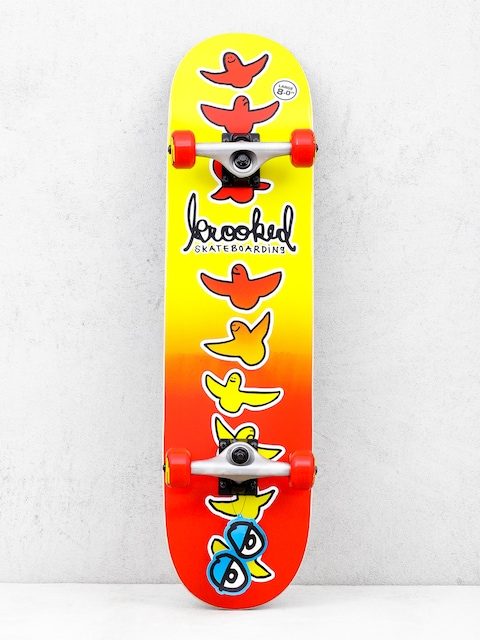 Deskorolka Krooked Birdical Fades (red/yellow)