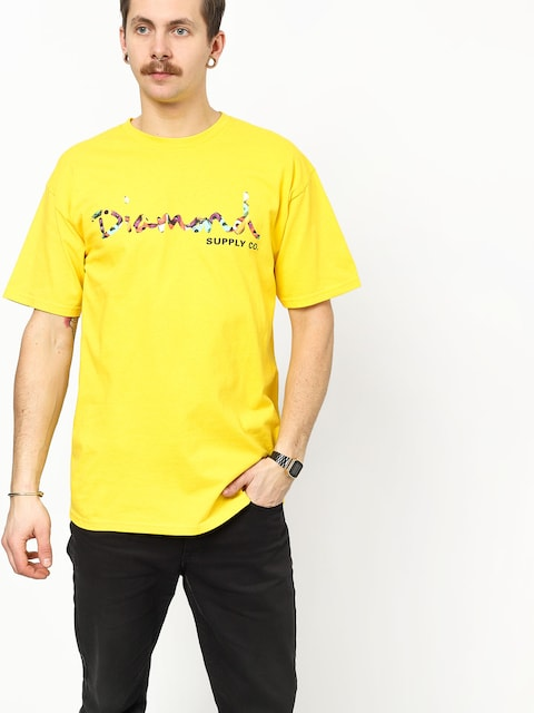 T-shirt Diamond Supply Co. Og Script Fasten (yellow)