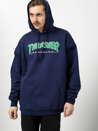 Bluza z kapturem Thrasher Outlined HD (navy)