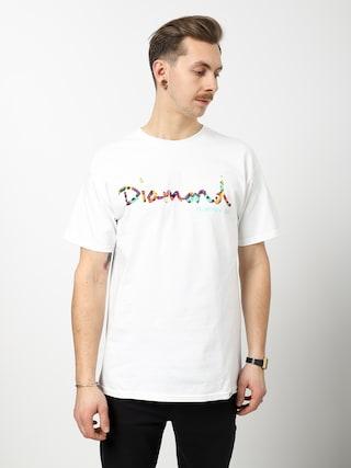 T-shirt Diamond Supply Co. Og Script Fasten (white)