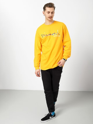 Longsleeve Diamond Supply Co. Og Script Fasten (gold)