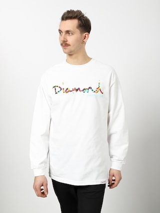 Longsleeve Diamond Supply Co. Og Script Fasten (white)