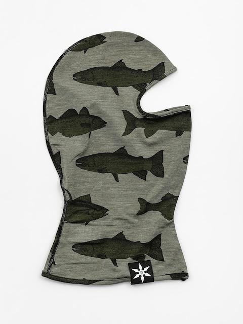 Ocieplacz Airblaster Merino Ninja Face (olive fish print)