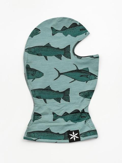 Ocieplacz Airblaster Merino Ninja Face (mint fish print)