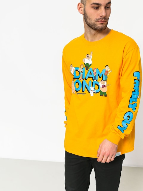 Longsleeve Diamond Supply Co. Diamond X Family Guy (yellow)