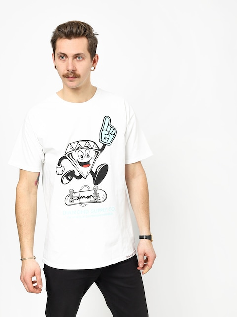 T-shirt Diamond Supply Co. Number 1 (white)