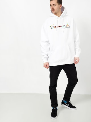 Bluza z kapturem Diamond Supply Co. Og Script Fasten HD (white)
