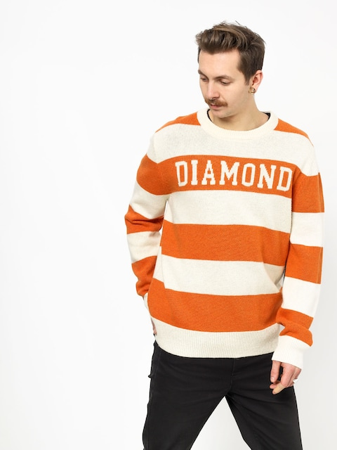 Sweter Diamond Supply Co. Striped Wool (orange)