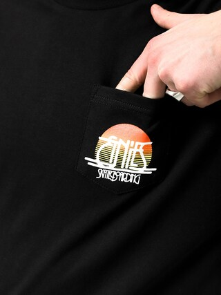 T-shirt Etnies Sunset Pocket (black)