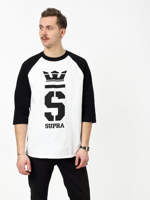 T-shirt Supra Champ Raglan (white/blk/blk)